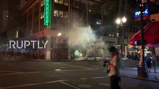 USA: Windows smashed, shops looted as protesters clash with police in Portland
