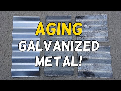 Age Galvanized Metal in Minutes!