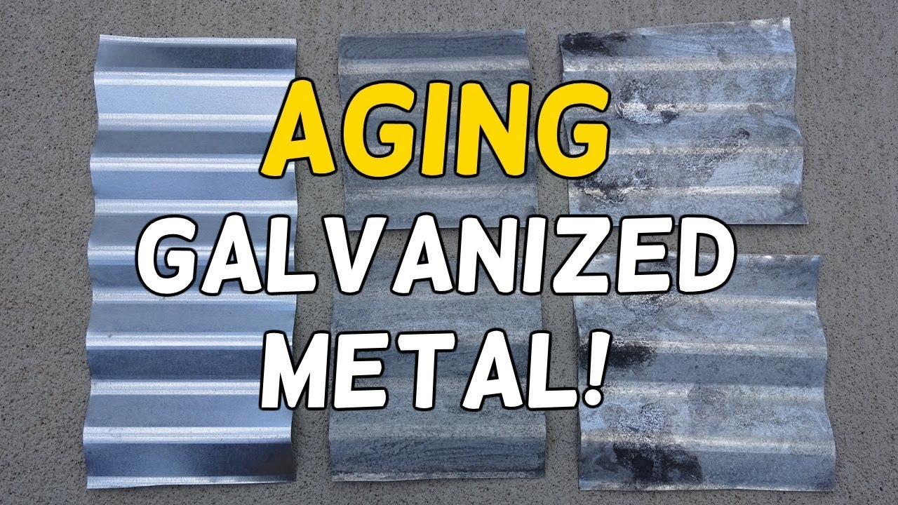 How To Stop Rust >> Age Galvanized Metal in Minutes! - YouTube