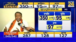पश्चिम बंगाल के BJP नेता Mukul Roy ने News24 के today's Chanakya को Modi लहर की सच्ची तस्वीर बताया