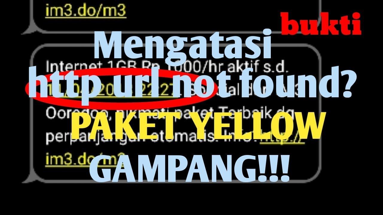 Daftar Paket Yellow Indosat Error Begini Cara Mengatasinya Youtube Data 1gb 7 Hari