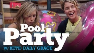 Video INTERNET POOL PARTY w/ DailyGrace & Beth Hoyt LIVE - 8/29/12 (Full Ep) download MP3, 3GP, MP4, WEBM, AVI, FLV November 2017