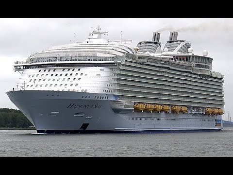 HARMONY OF THE SEAS | awesome spectacular maiden call in Rotterdam | 4K-Quality-Video