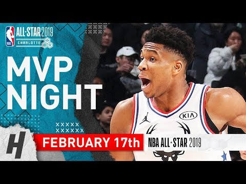 Giannis Antetokounmpo Full Highlights at 2019 NBA All-Star Game - 38 Points, 11 Reb