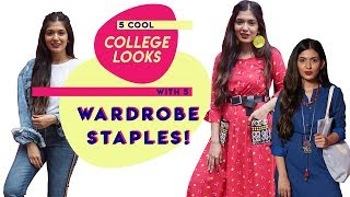 5 Cool College Looks With Wardrobe Staples! | College Fashion | Hauterfly
