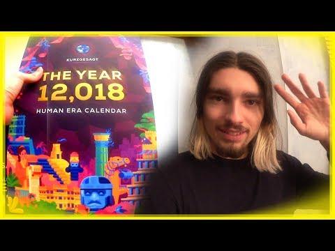 Kurzgesagt Human Era Calendar 12,018 Unboxing/Review - Vlog