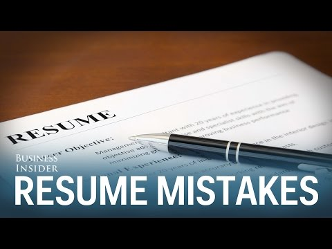 Worst mistakes on resumes