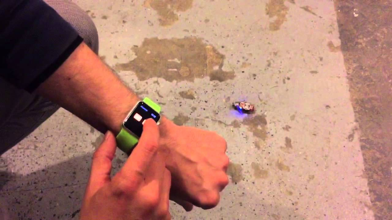 controlling roboroach with apple watch at deep den of a2 maker