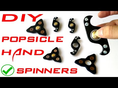 Thumbnail: Hand Spinner fidget toy made from popsicles DIY tutorial