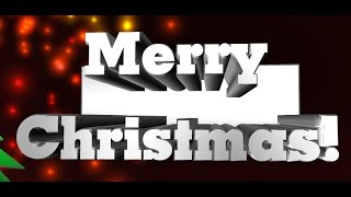 Merry Christmas 2015 and New Year - Wish with this Remix English Song - 3d Animation - Ringtone 2015