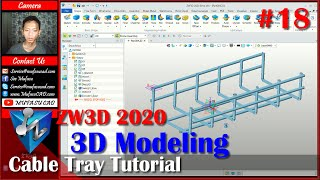 #18 ZW3D 2020 Modeling Cable Tray Tutorial For Beginner