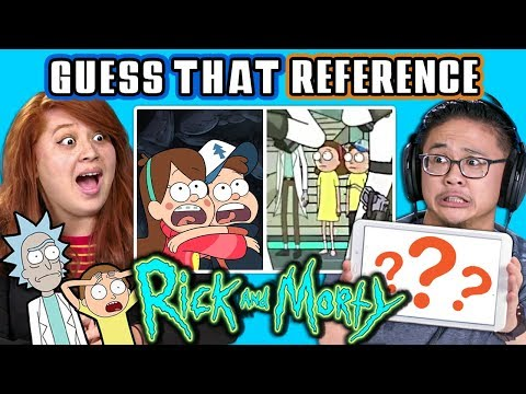 GUESS THAT RICK AND MORTY REFERENCE CHALLENGE | FBE Staff Reacts