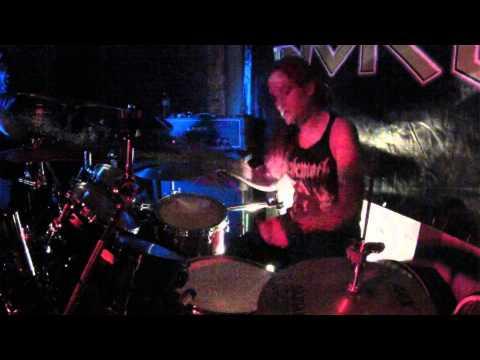 Dead Asylum - SAMANTHA LANDA Drum cam - live Airliner bar 09/19/2014