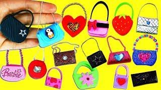 20 DIY Barbie Doll Miniature Purse, Handbag, Bag - 20 Different Styles each in under 1 Minute