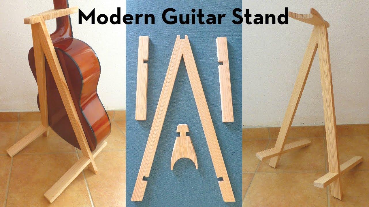 let 39 s make a modern guitar stand youtube. Black Bedroom Furniture Sets. Home Design Ideas