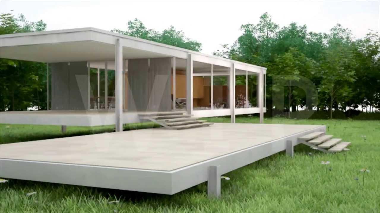 farnsworth house animation wip work in progress youtube