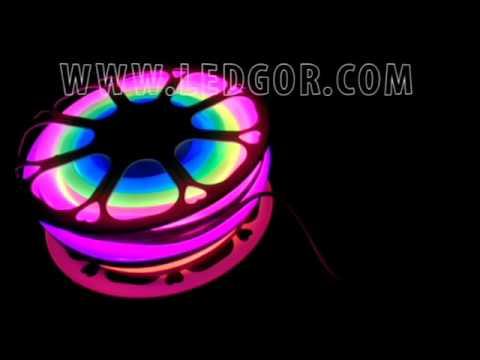 Chasing Dream color addressable RGB led neon flex rope PVC neon tube 24V  60leds SMD5050