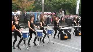 Best Girls Drums Ever Street Performance.flv