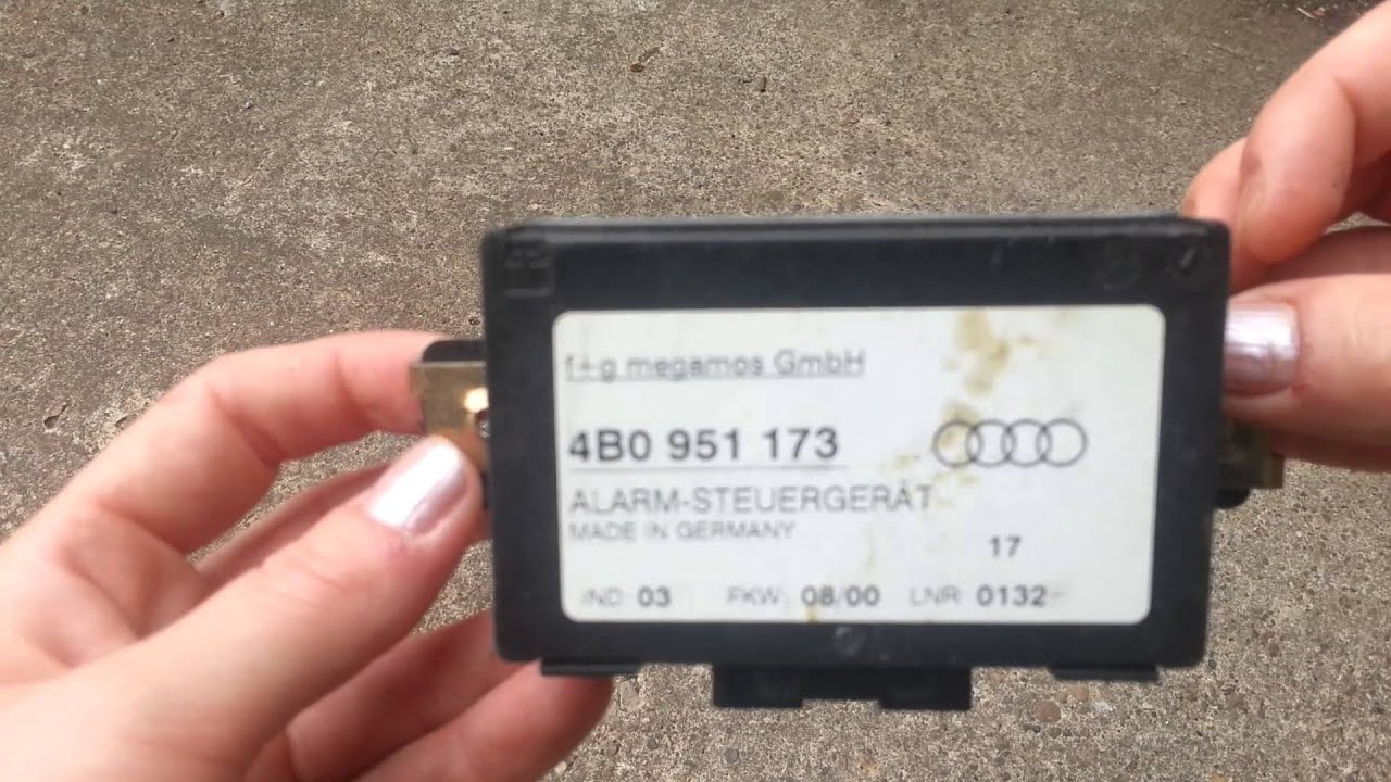 Audi A3 A4 A6 A8 Alarm Control Unit Ecu 4b0951173 Youtube