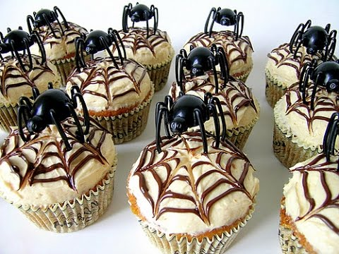 halloween cupcake ideas decorating spider web