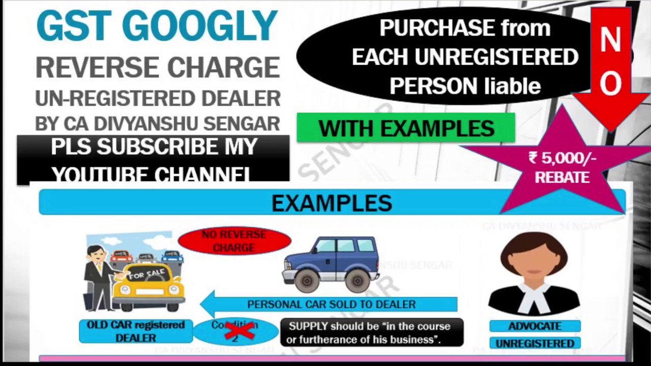 Gst Reverse Charge In Case Of Supply From Unregistered Dealer