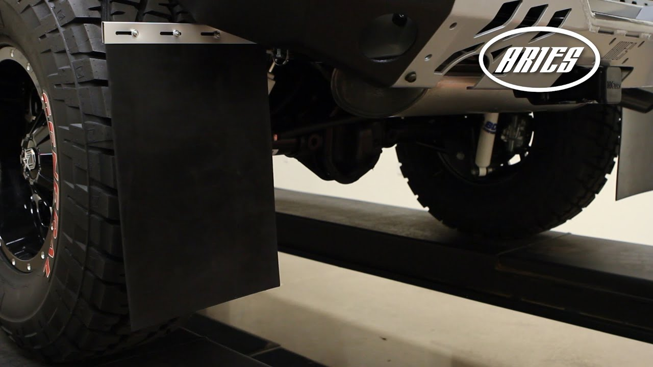 "Mud Flaps For Lifted Trucks >> ARIES Universal Mud Flap Installation: 12"" x 18"" AR111900 ..."