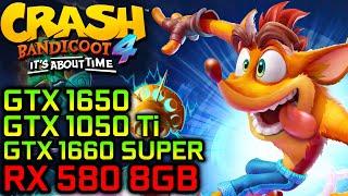 Crash Bandicoot 4 | GTX 1650, GTX 1050 Ti, GTX 1660 SUPER and RX 580 Benchmarks!