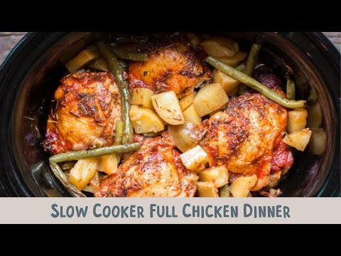 Slow Cooker Full Chicken Dinner (Chicken, yukon gold potaoes and green beans)