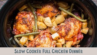 Slow Cooker Full Chicken Dinner (Chicken, yukon gold potaoes and green beans)