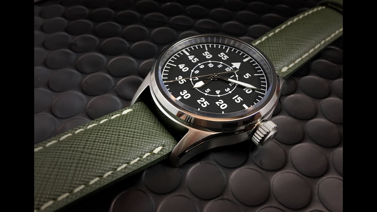 Geckota k1 pilot watch fantastic quality at budget price youtube for Geckota watches
