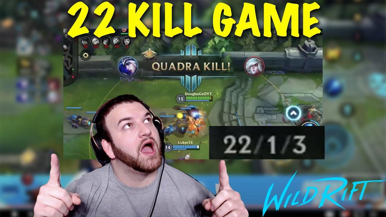 Wild Rift Ashe 22 KILLS! (Full Gameplay + English ...