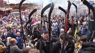 DESTIL Trappers voor de tweede maal als Oberliga Meisterschaft gehuldigd door de gemeente Tilburg