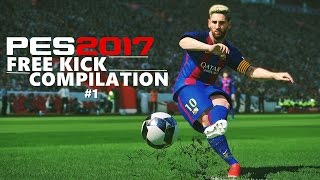 Pes 2017 - free kick compilation #1 hd 60fps