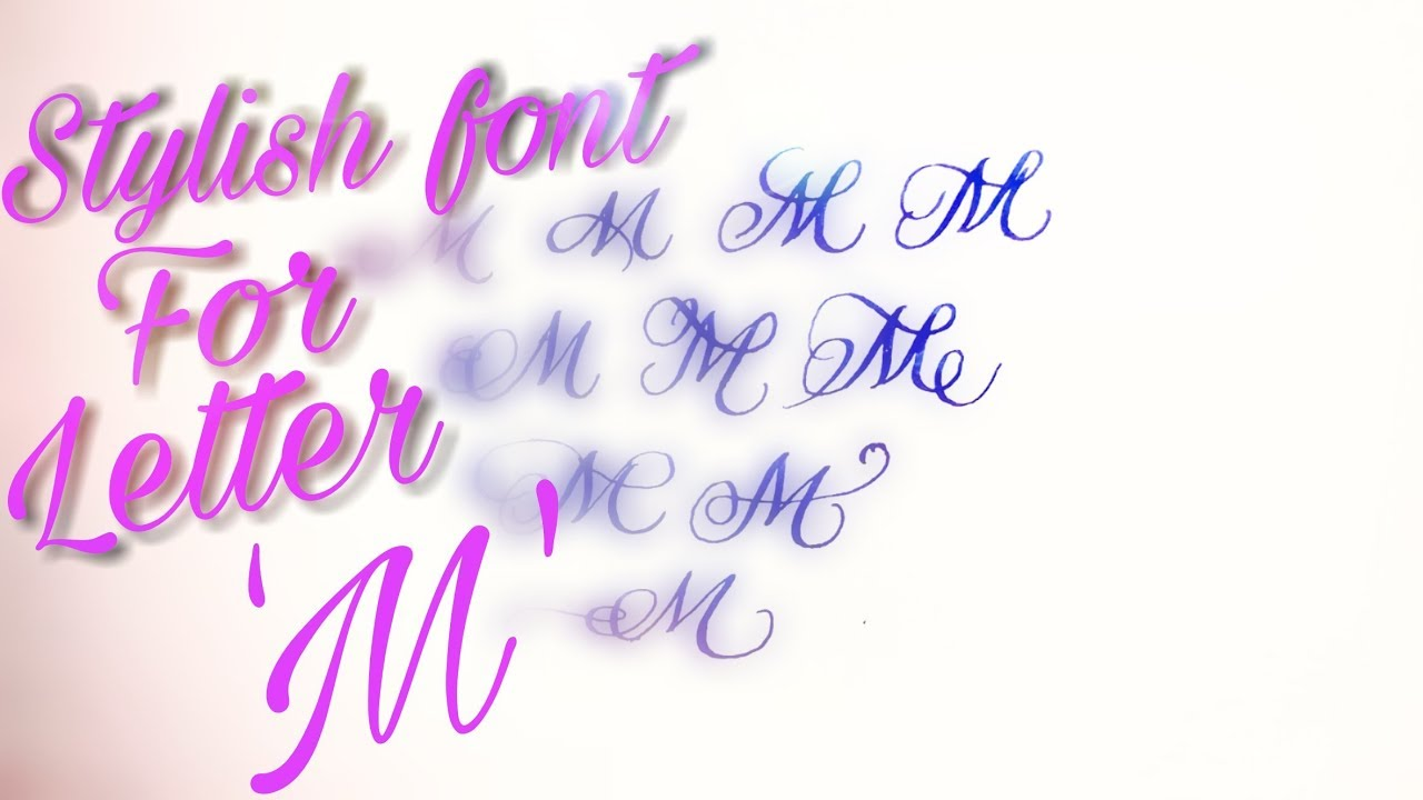 Stylish font for letter 'M' ||How to improve || your handwriting