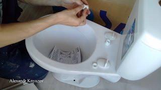 Как собрать, установить и закрепить сиденье для унитаза?
