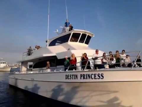 Charter boat destin princess receives blessing 2013 youtube for Charter fishing destin