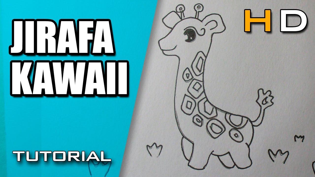 Cómo Dibujar una Jirafa Kawaii Paso a Paso Fácil - Dibujo de una ...