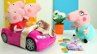 Детское видео про Пеппу - У Мамы Свинки розовая машинка
