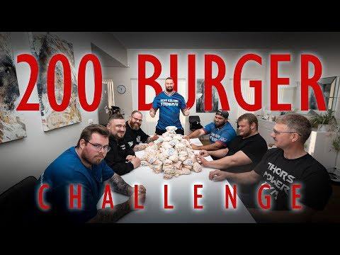 FOOD CHALLENGE: 200 BURGERS