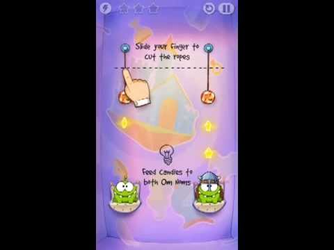 Cut The Rope Time Travel Level 1-1 Walkthrough | The Middle Ages Level 1-1 Walkthrough