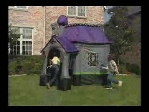 10ft airblown inflatable haunted house with porch youtube