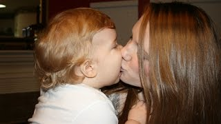 Cute Babies Kissing Mom - Funny Interacting Mom with Baby