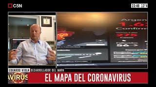 Coronavirus: Entrevista a Eduardo Viola, desarrollador de los mapas con datos de la pandemia