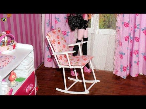 Como fazer cadeira de balanço para boneca Monster High, Barbie, MLP, EAH, etc