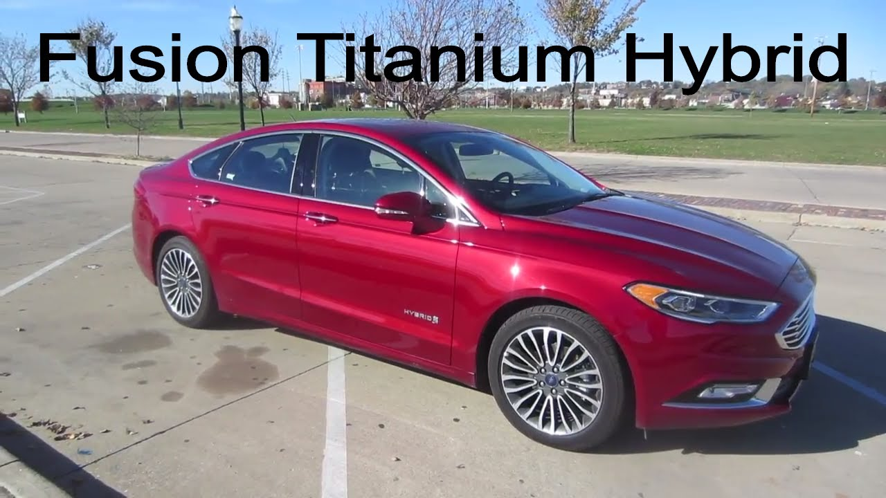 2017 ford fusion hybrid titanium full rental car review youtube. Black Bedroom Furniture Sets. Home Design Ideas