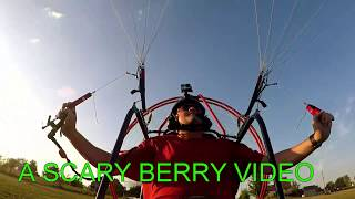 I couldn't land my paramotor !!! there is someone on my runway !!!