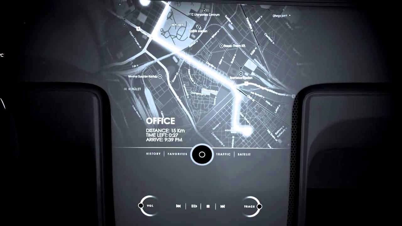 Smart Vehicle Interface / Future Car Dashboard Concept - 2014