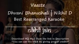 Vaaste Song | Best Karaoke with lyrics | Rearranged piano karaoke