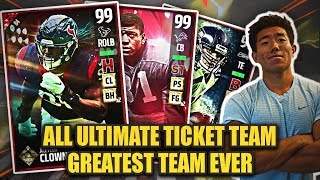 "Greatest team ever! ""all ultimate ticket"" team! madden 17 ultimate team!"