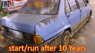 1983 Model Fiat Regata Italy car cold starting run after 10 years | Restoration Garage